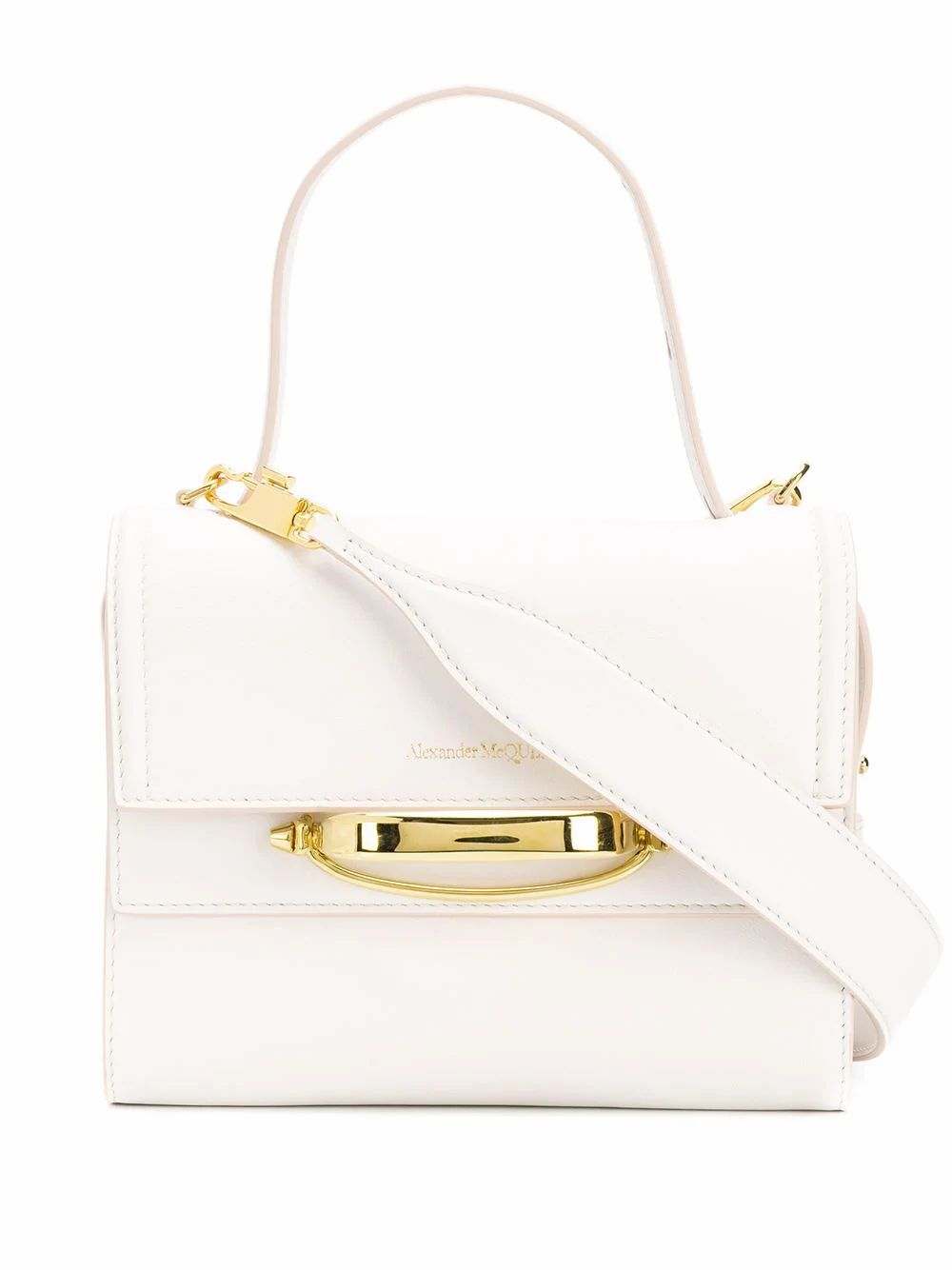 ALEXANDER MCQUEEN WOMEN'S 619746D780T9006 WHITE LEATHER HANDBAG