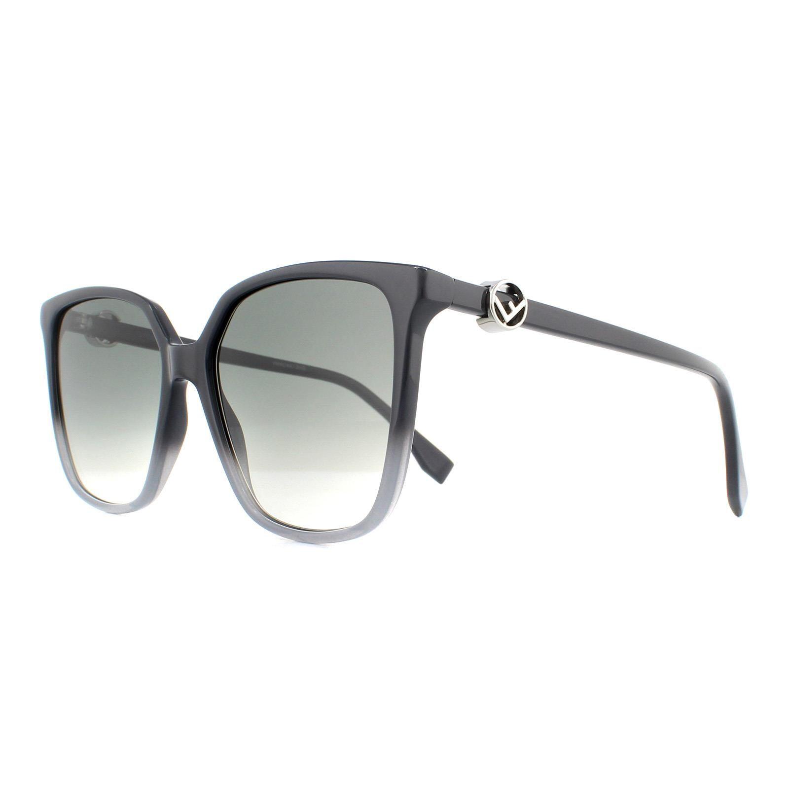 Fendi Sunglasses FF 0318/S KB7 9O Grey Gradient Grey Gradient