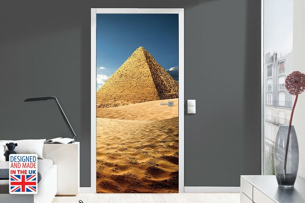 Pyramid Self-Adhesive Door Mural Sticker For All Europe Size 90Cm X 200Cm