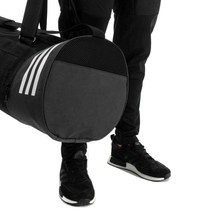 Accessories adidas Convertible 3-Stripes Duffel Bag - Medium in Black-White