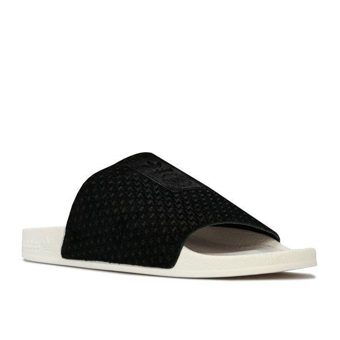 Women's adidas Originals Adilette Luxe Slide Sandals in Black