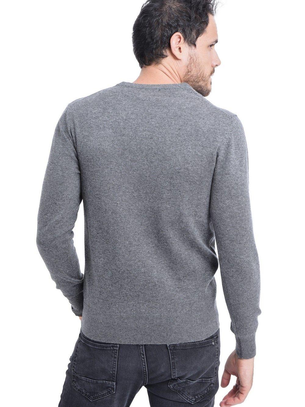 C&JO V-neck Sweater in Grey