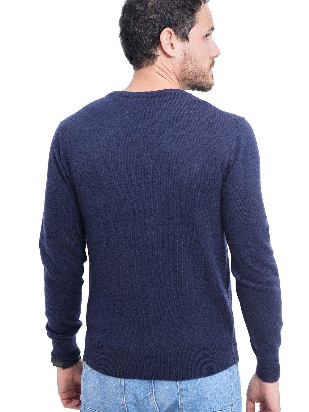 C&JO Round Neck Sweater in Navy