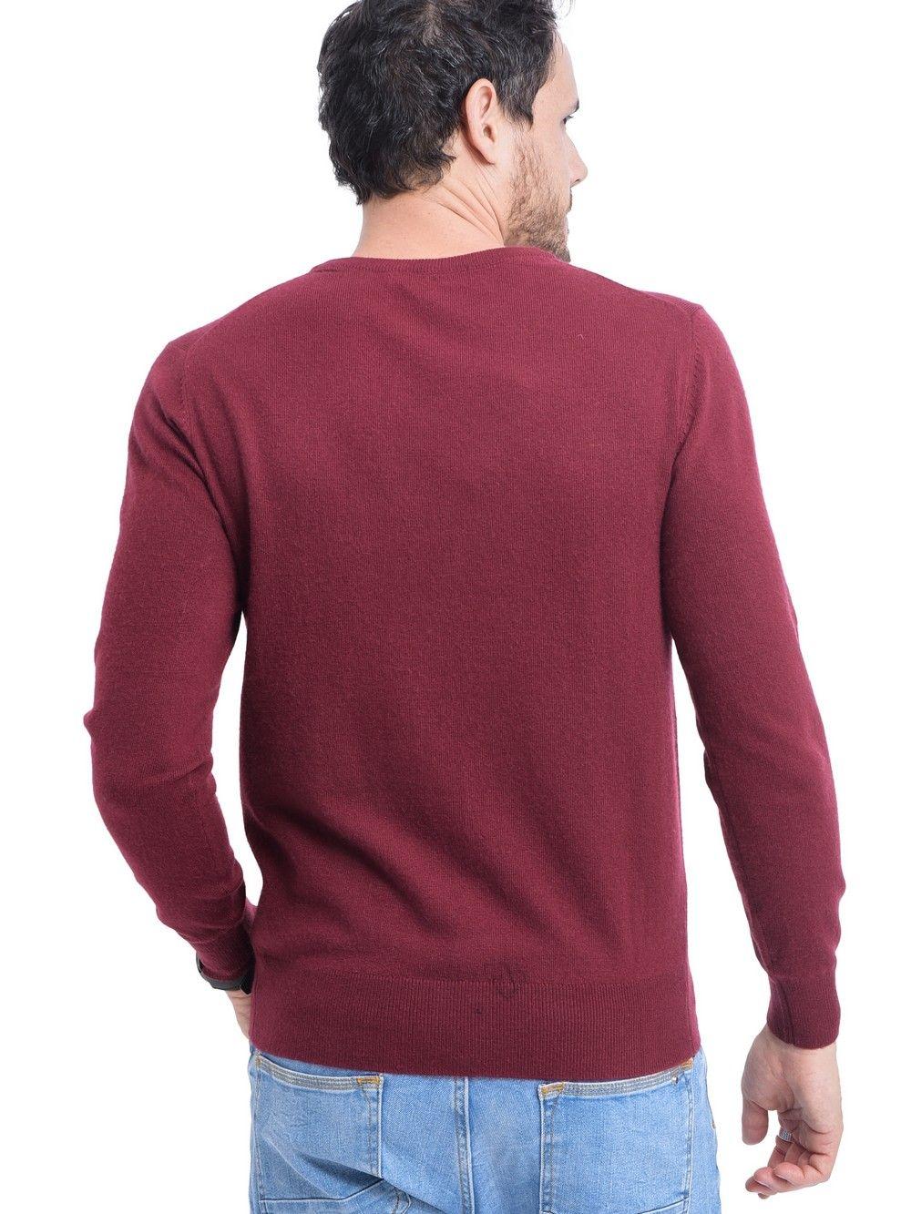 C&JO Round Neck Sweater in Maroon