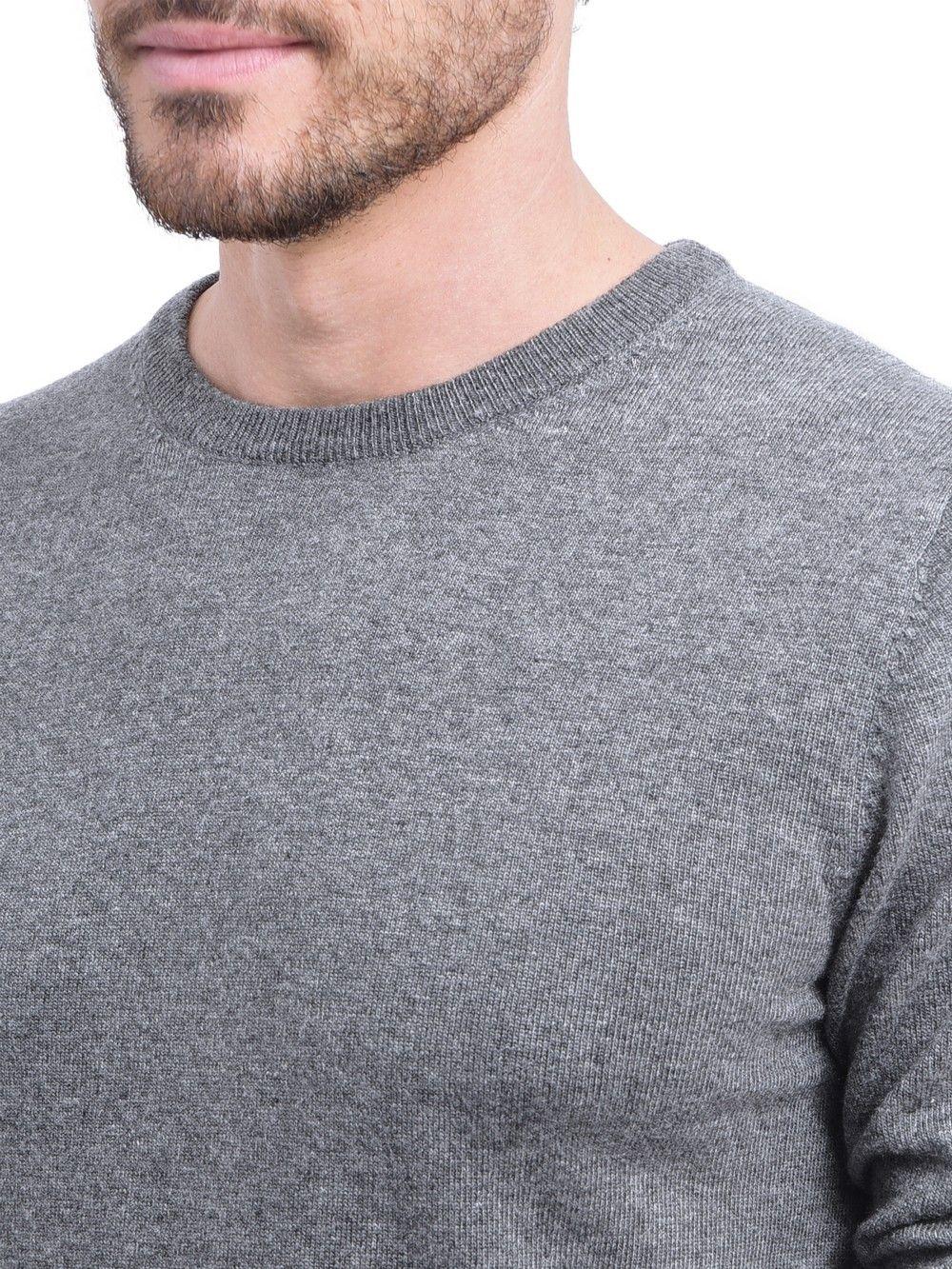 C&JO Round Neck Sweater in Grey