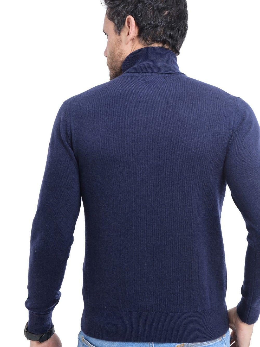 C&JO Turtleneck Sweater in Navy