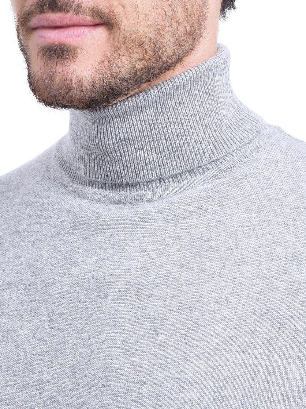 C&JO Turtleneck Sweater in Light Grey