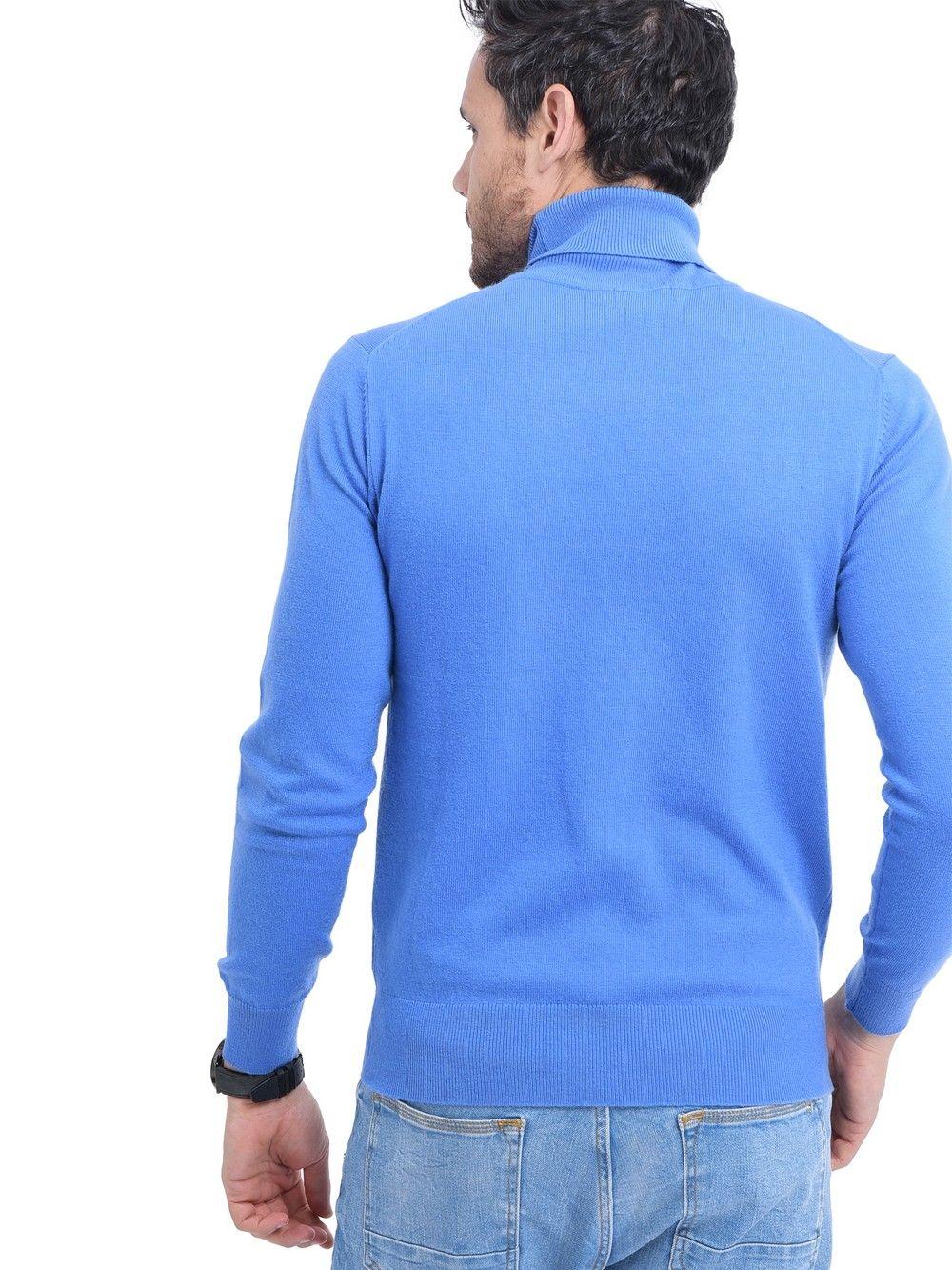 C&JO Turtleneck Sweater in Blue