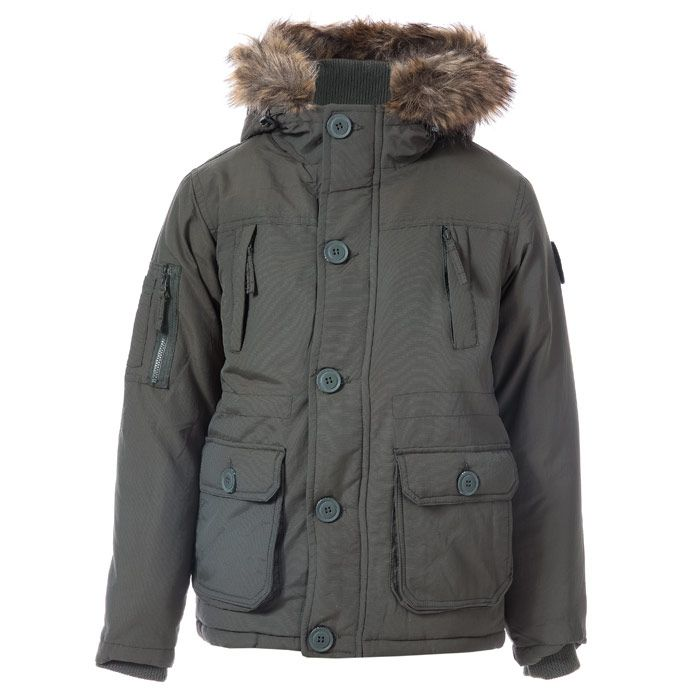 Boy's Ripstop Junior Crazytown Parker Jacket in Khaki