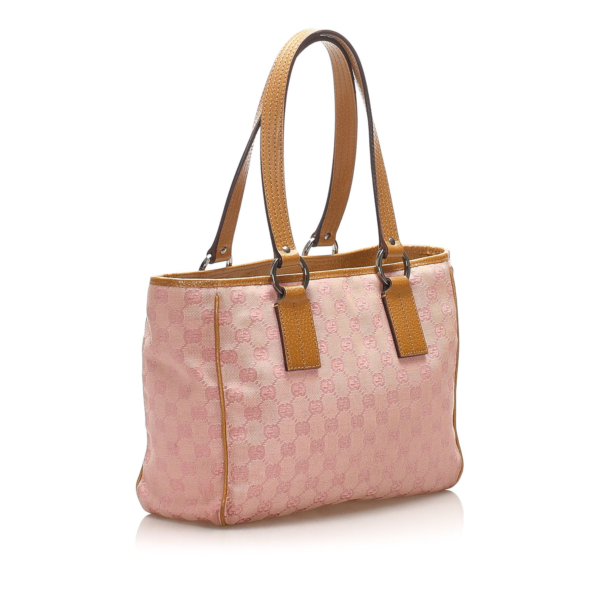 Vintage Gucci GG Canvas Tote Bag Pink