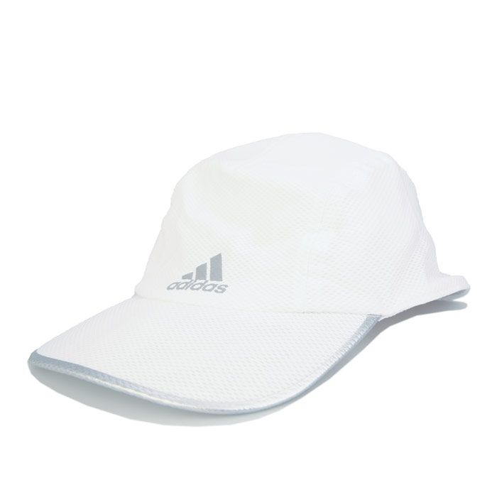 adidas Aeroready Runner Mesh Cap in White Silver