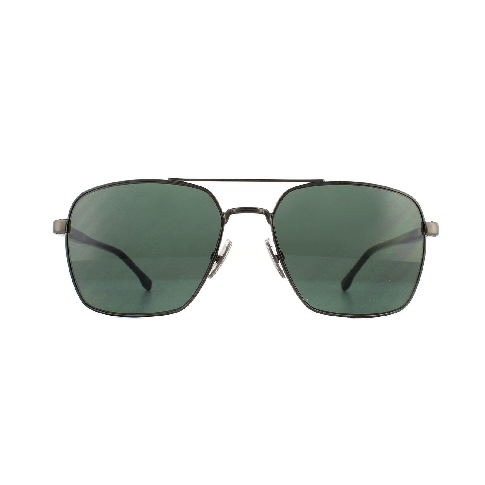 Hugo Boss Sunglasses 1045/S SVK QT Matte Ruthenium Green