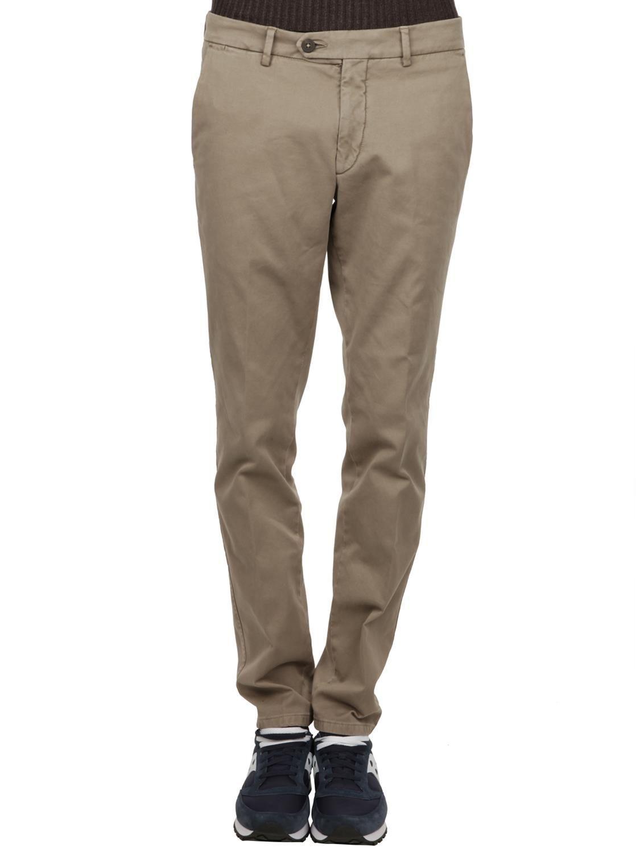 MICHAEL COAL MEN'S MCRICKY2468FANGO BEIGE COTTON PANTS