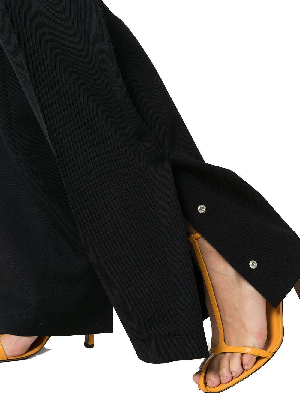 JIL SANDER WOMEN'S JSPP302104WP210600402 BLACK WOOL PANTS