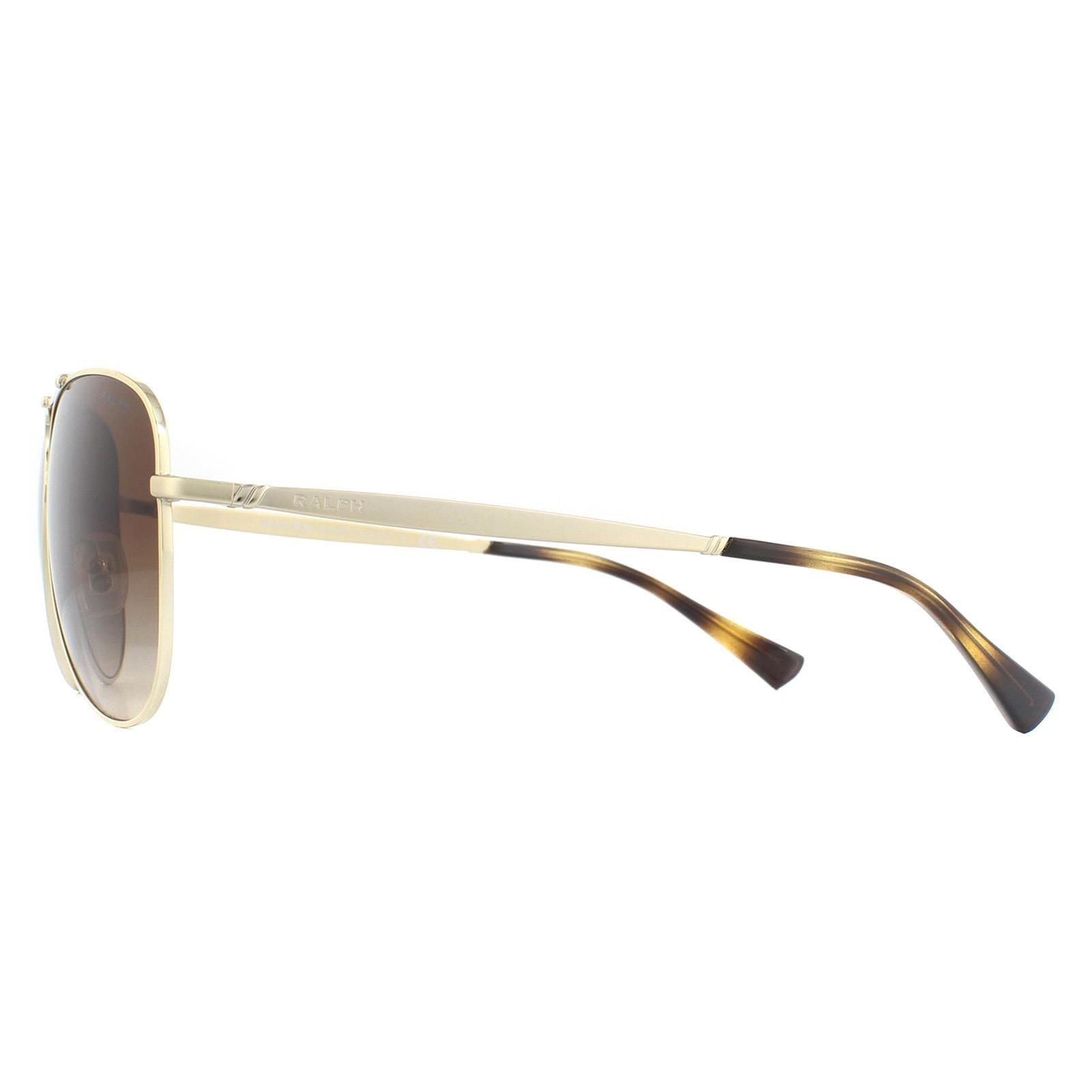 Ralph by Ralph Lauren Sunglasses RA4125 911613 Gold and Matte Gold Brown Gradient