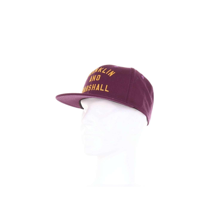 FRANKLIN & MARSHALL MEN'S CPUA919PURPLE PURPLE COTTON HAT