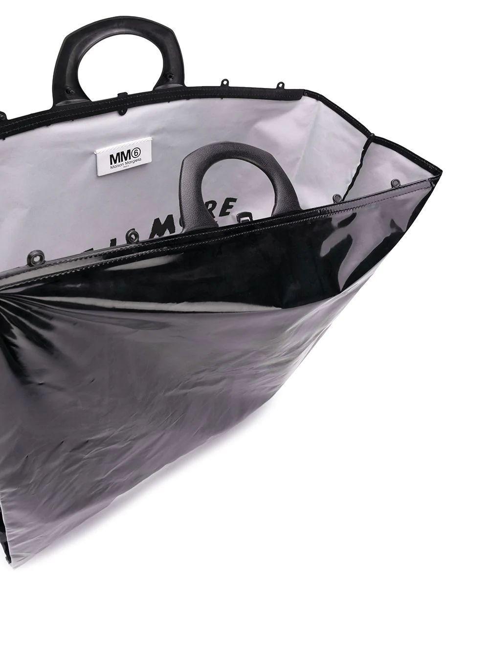 MAISON MARGIELA WOMEN'S S63WC0001P2436T8013 BLACK PVC TOTE