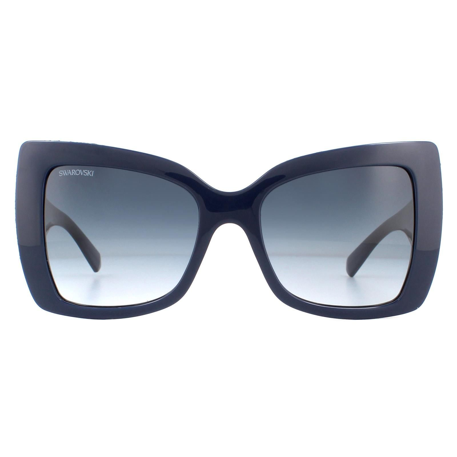 Swarovski Sunglasses SK0203 90W Shiny Dark Blue Glitter Dark Blue Gradient