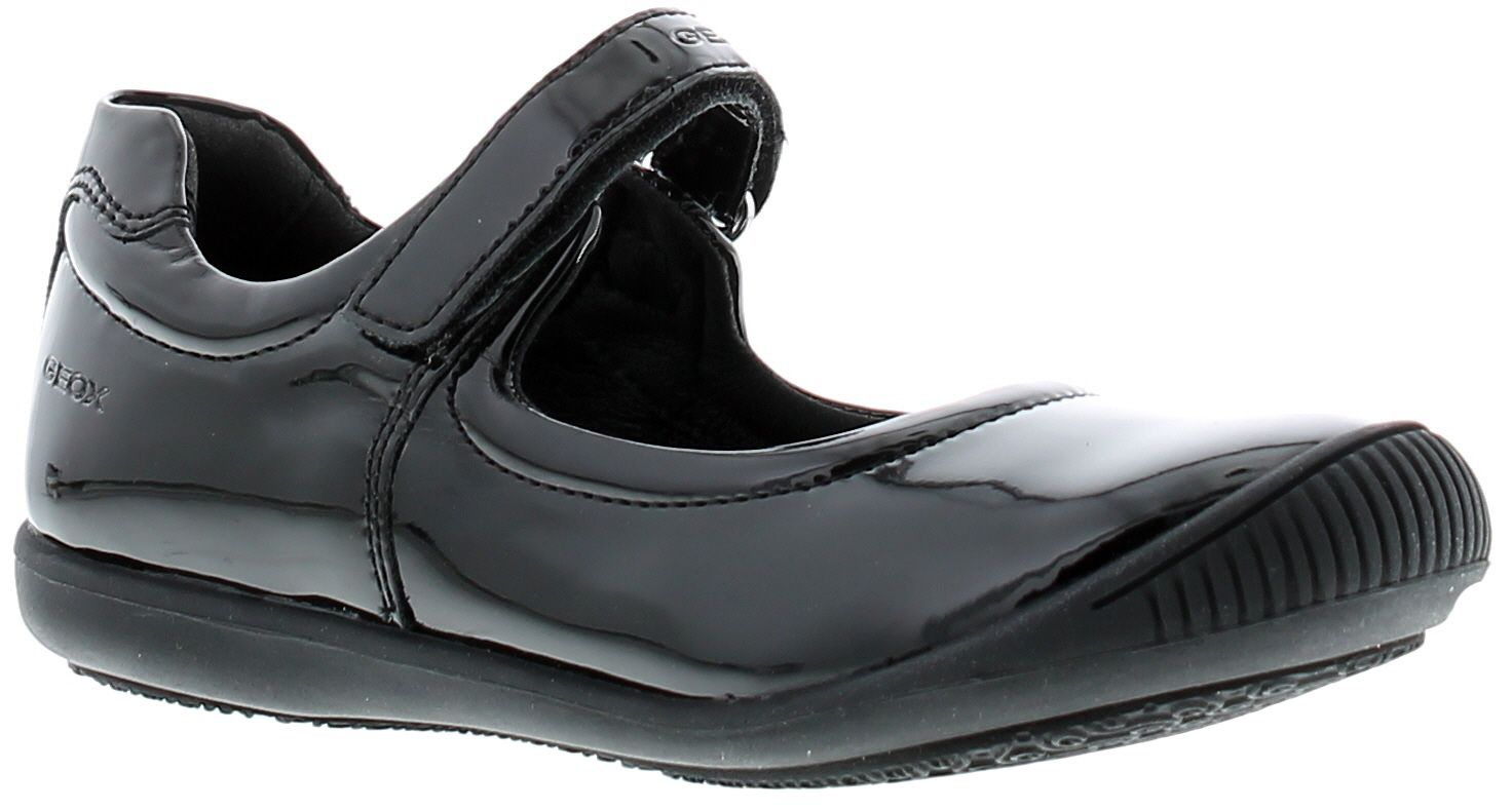 Childrens Geox Synthetic Upper Back To School Shoes With Rip Tape Fastening Rubber Outsole