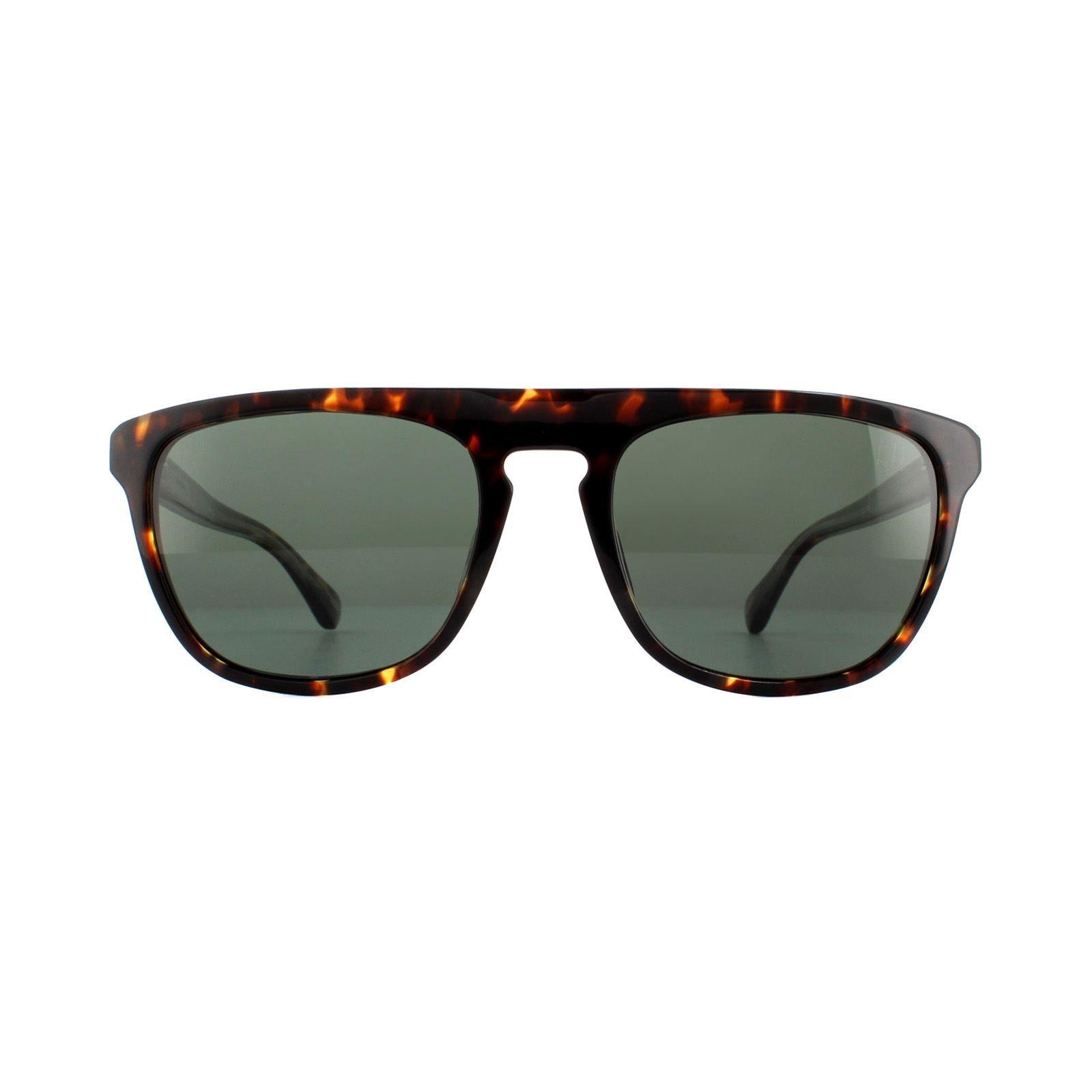 Dunhill Sunglasses SDH105 909P Shiny Yellow Havana Green Polarized