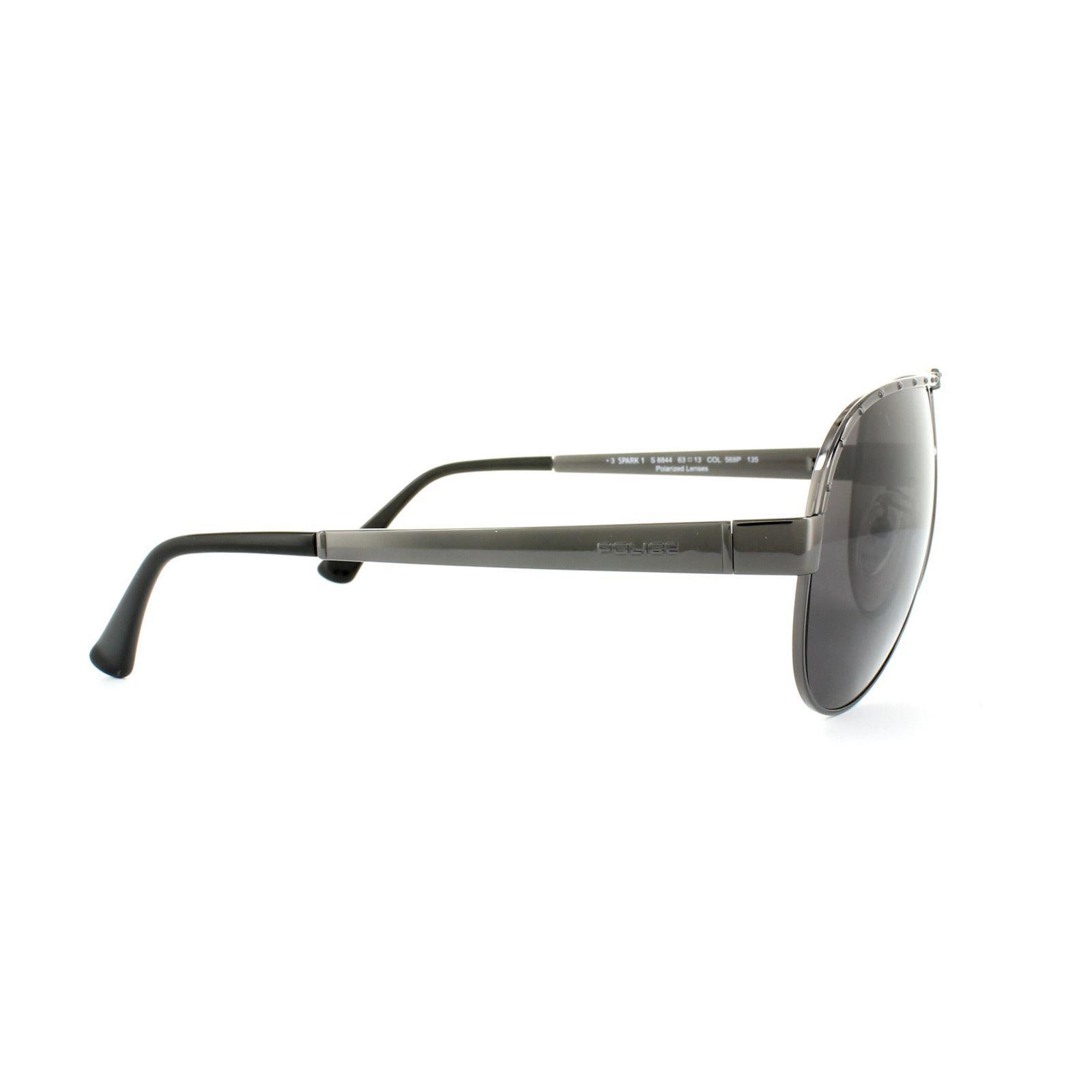 Police Sunglasses S8844 Spark 1 568P Matt Bronze Bronze Polarized
