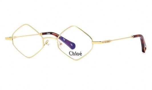 Chloe Round metal Unisex Eyeglasses Yellow Gold / Clear Lens