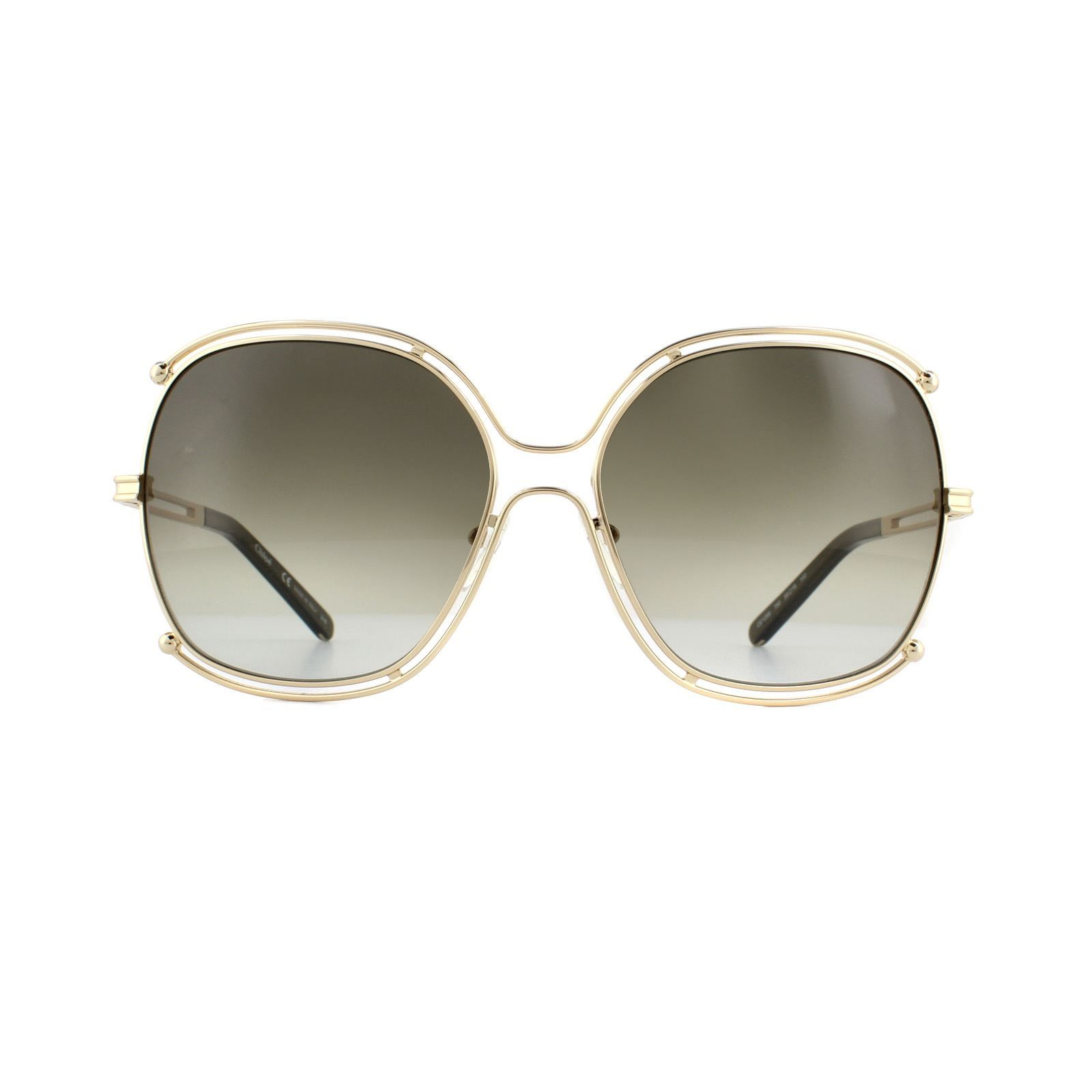 Chloe Sunglasses CE129S 750 Gold Khaki Gradient