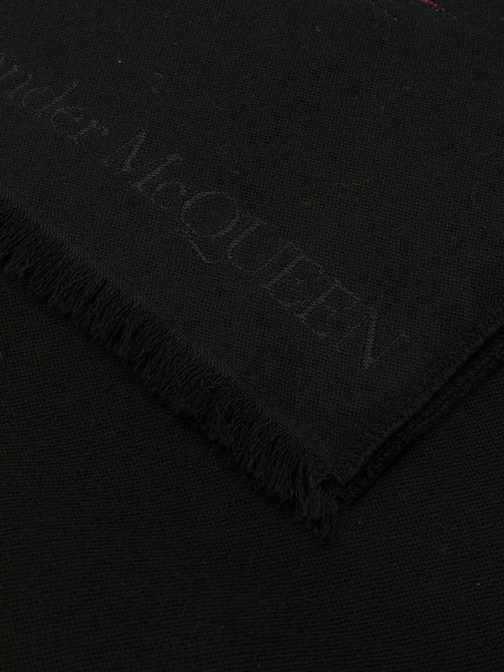 ALEXANDER MCQUEEN WOMEN'S 5781793B84Q1000 BLACK WOOL SCARF