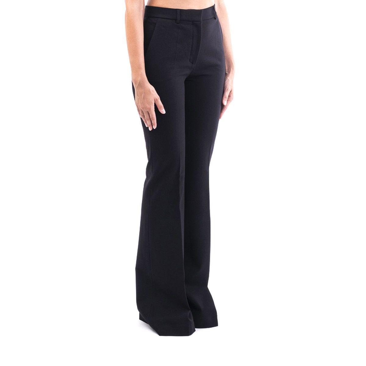 ALBERTA FERRETTI WOMEN'S A03036621555 BLACK COTTON PANTS