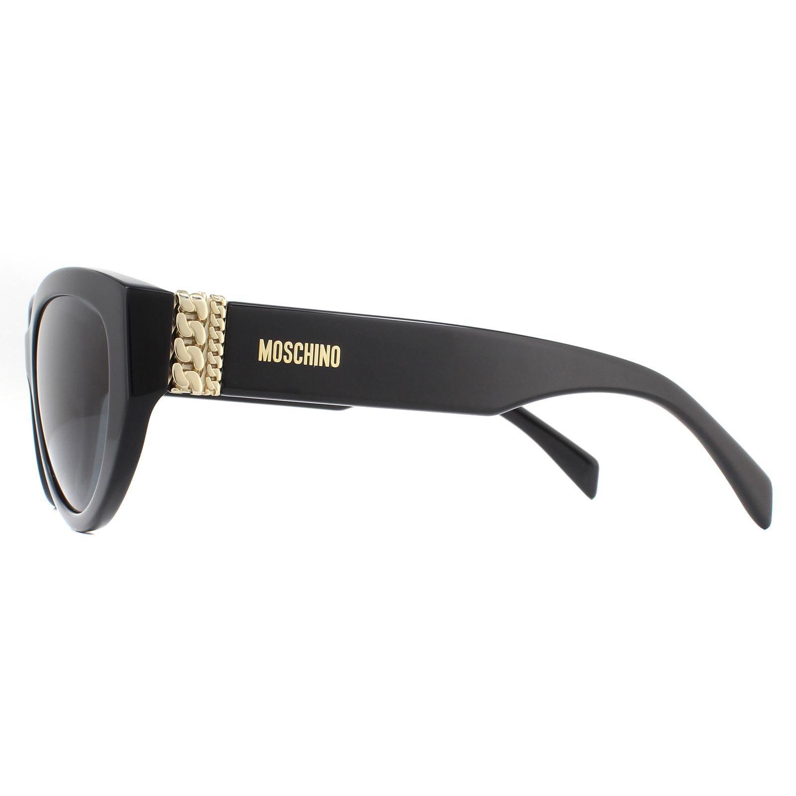 Moschino Sunglasses MOS012/S 807 IR Black Grey Gradient Polarized