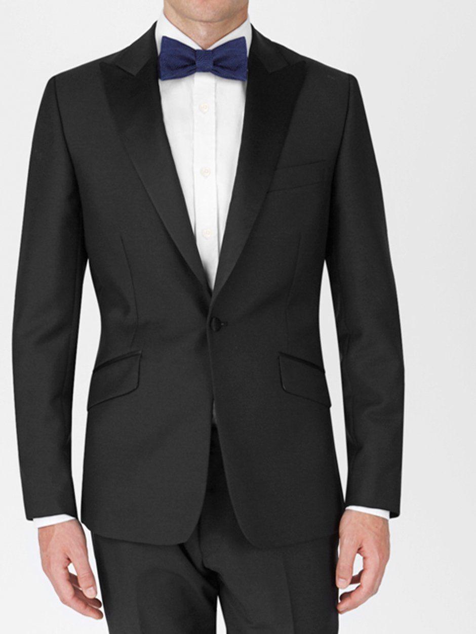 Peak Lapel Tuxedo Jacket Black