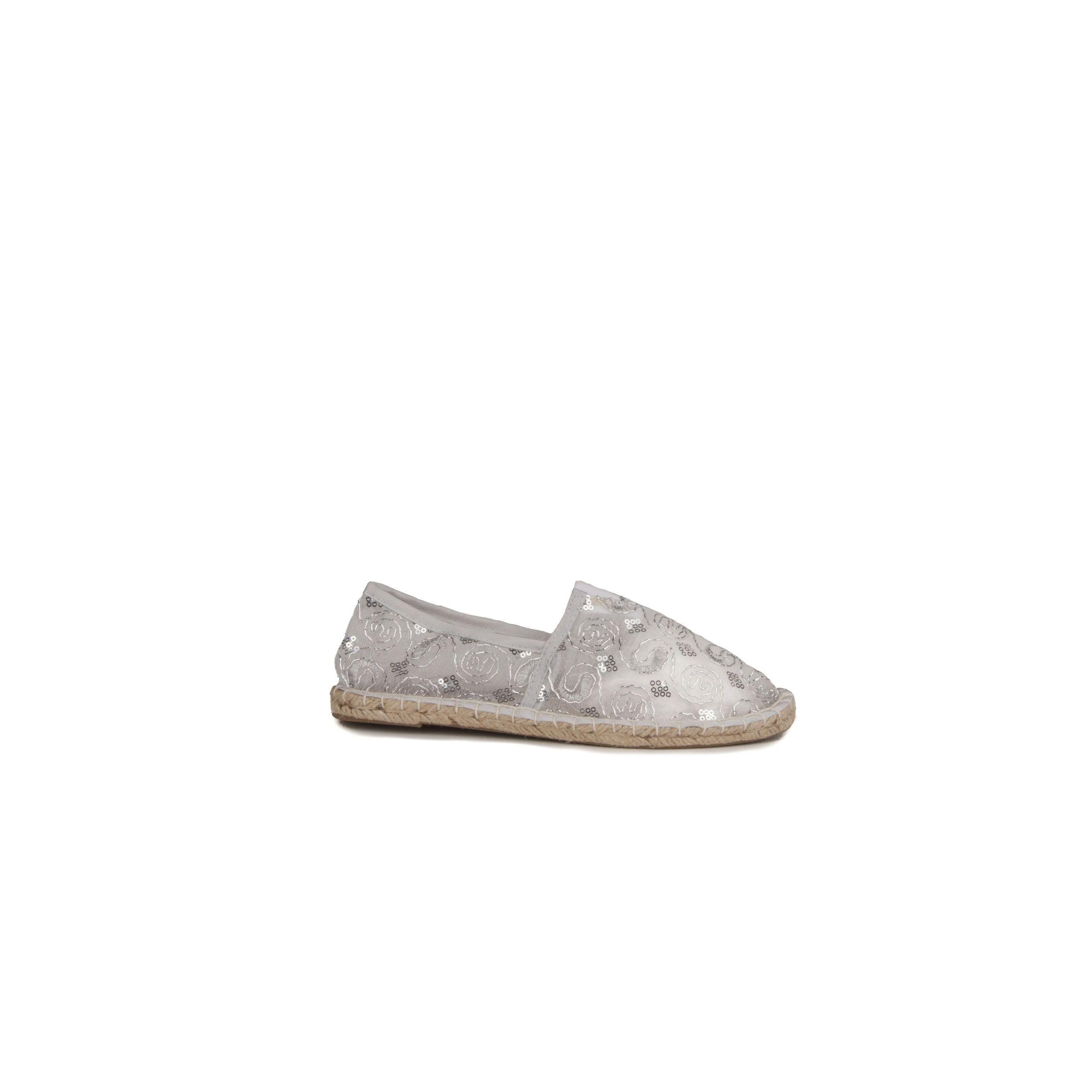 Montevita Artisanal Espadrille in Silver