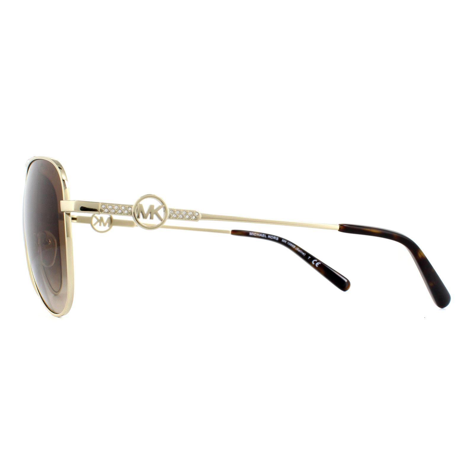 Michael Kors Sunglasses MK1066B Salina 100113 Light Gold Brown Gradient
