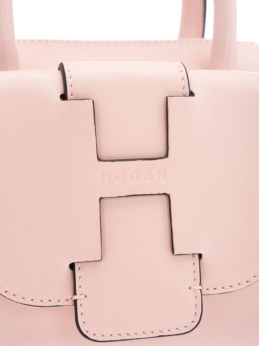 HOGAN WOMEN'S KBW01BF0100J60M413 PINK LEATHER HANDBAG