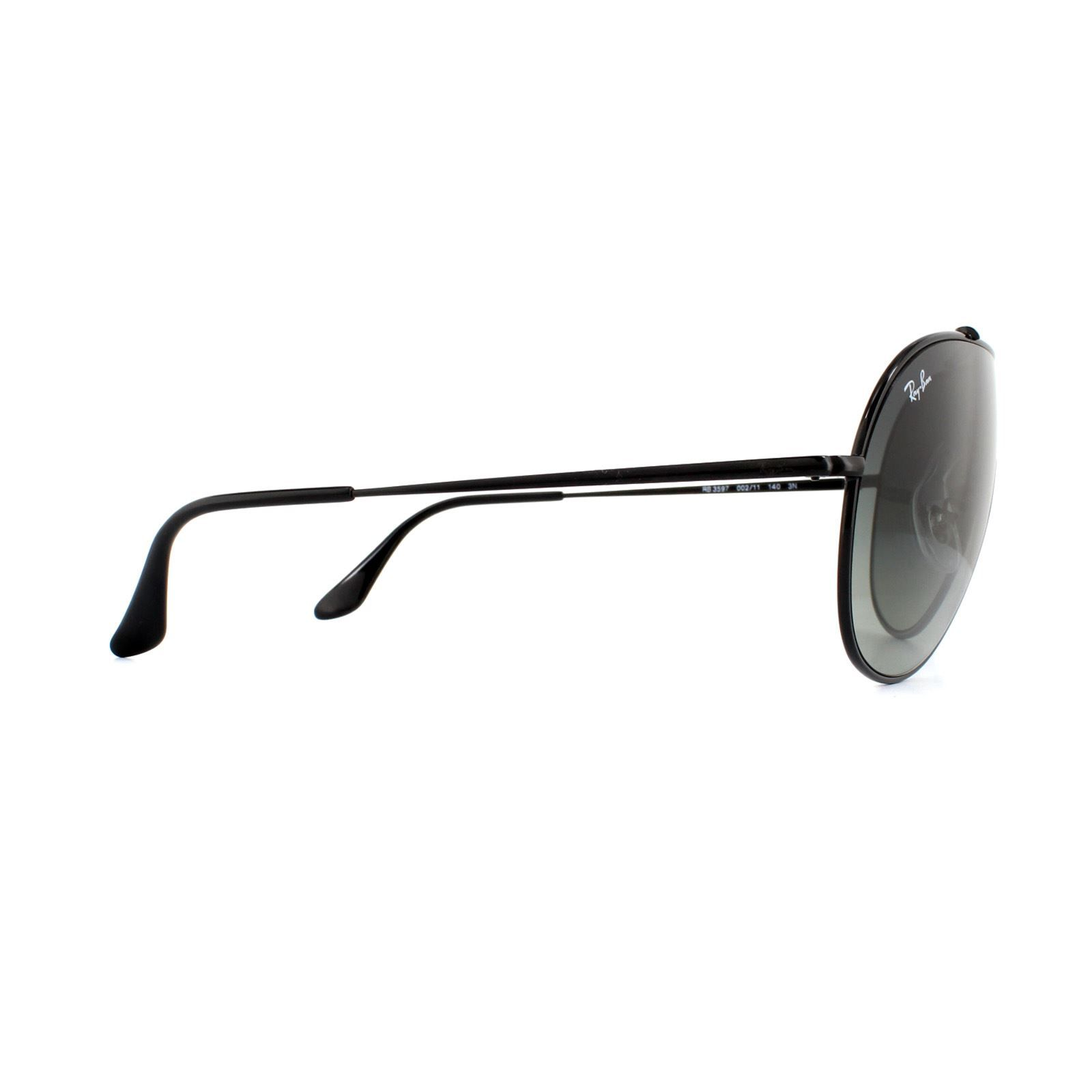 Ray-Ban Sunglasses Wings RB3597 002/11 Black Grey Gradient