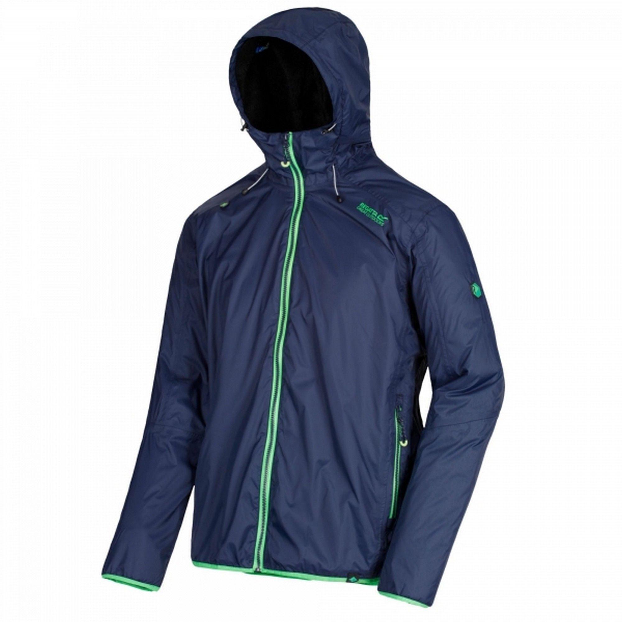 Regatta Mens Tarren Hooded Jacket (Black Blue)