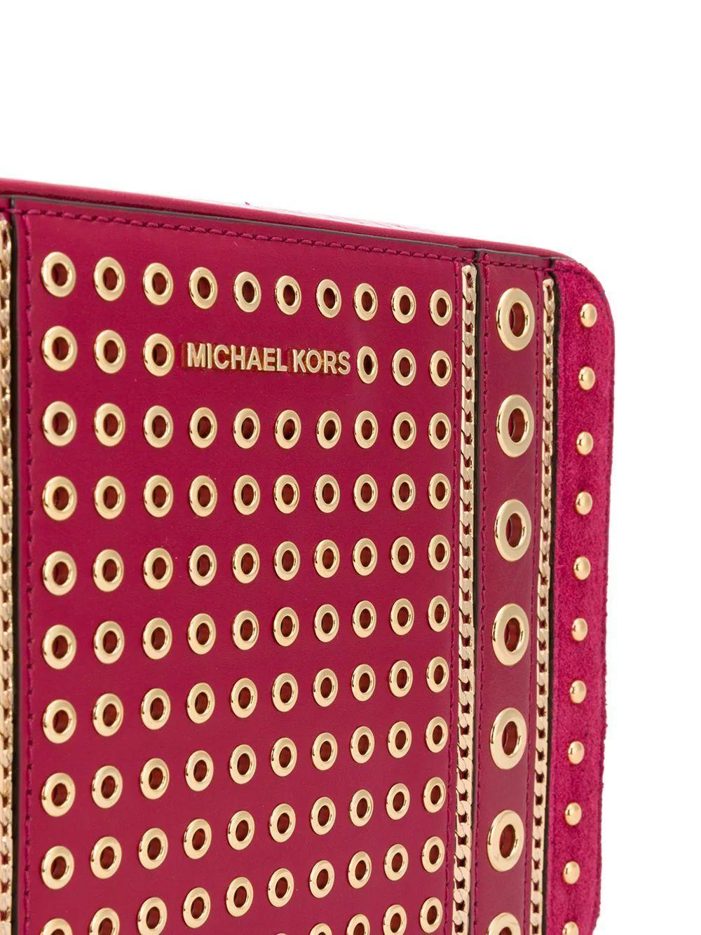 MICHAEL KORS WOMEN'S 32H9GJ6M2U506 FUCHSIA LEATHER SHOULDER BAG