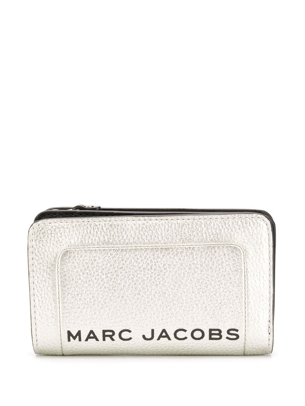 MARC JACOBS WOMEN'S M0016185045 SILVER LEATHER WALLET