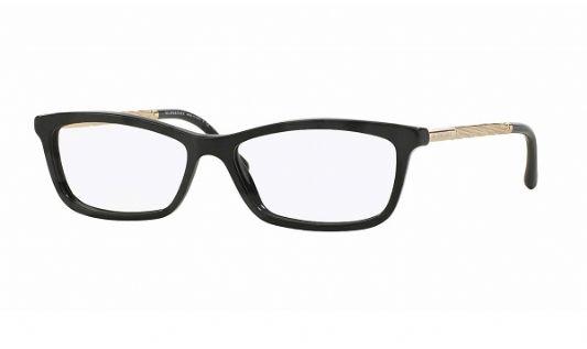 Burberry Rectangular acetate Women Eyeglasses Black / Clear Lens