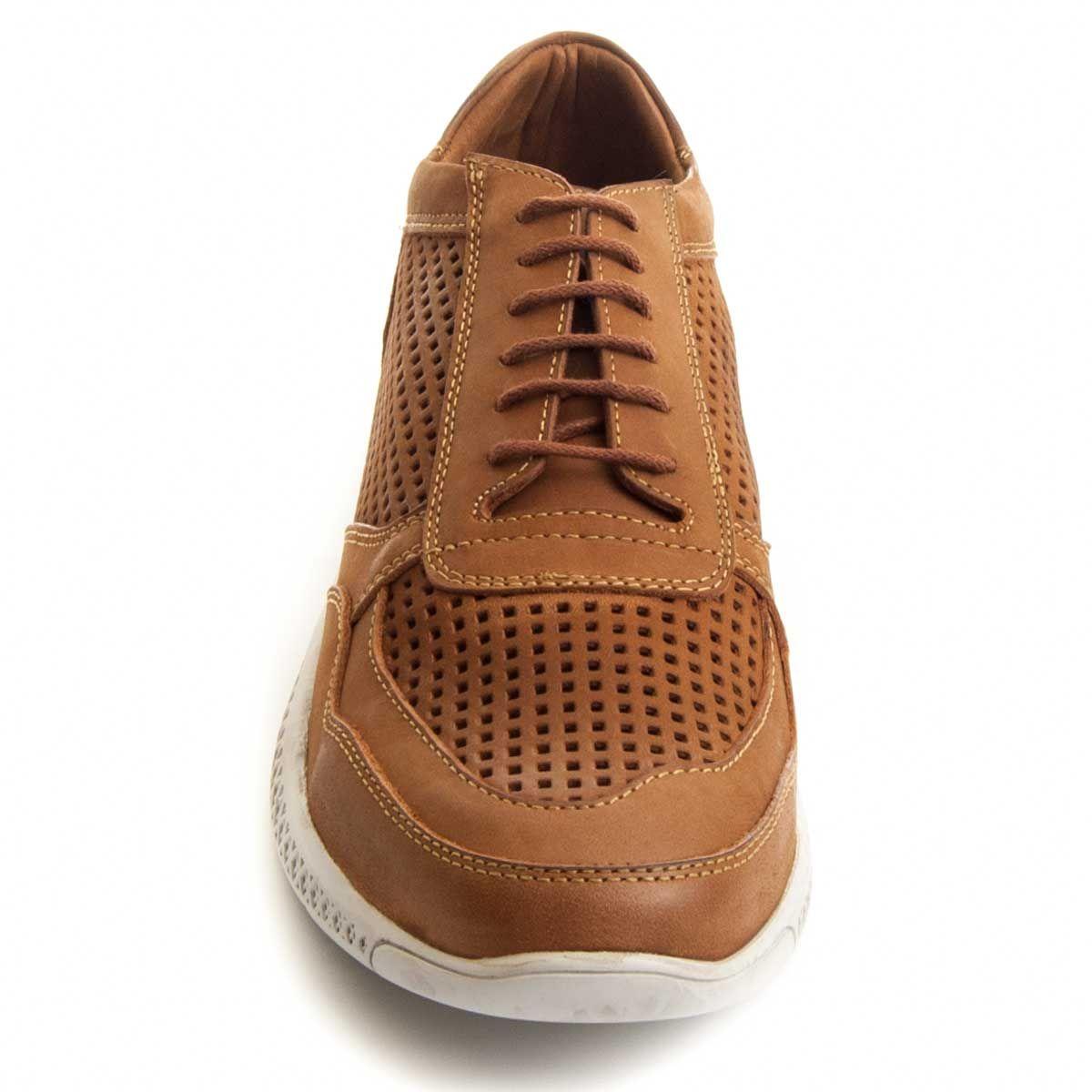 Montevita Laser Cut Sneaker in Brown