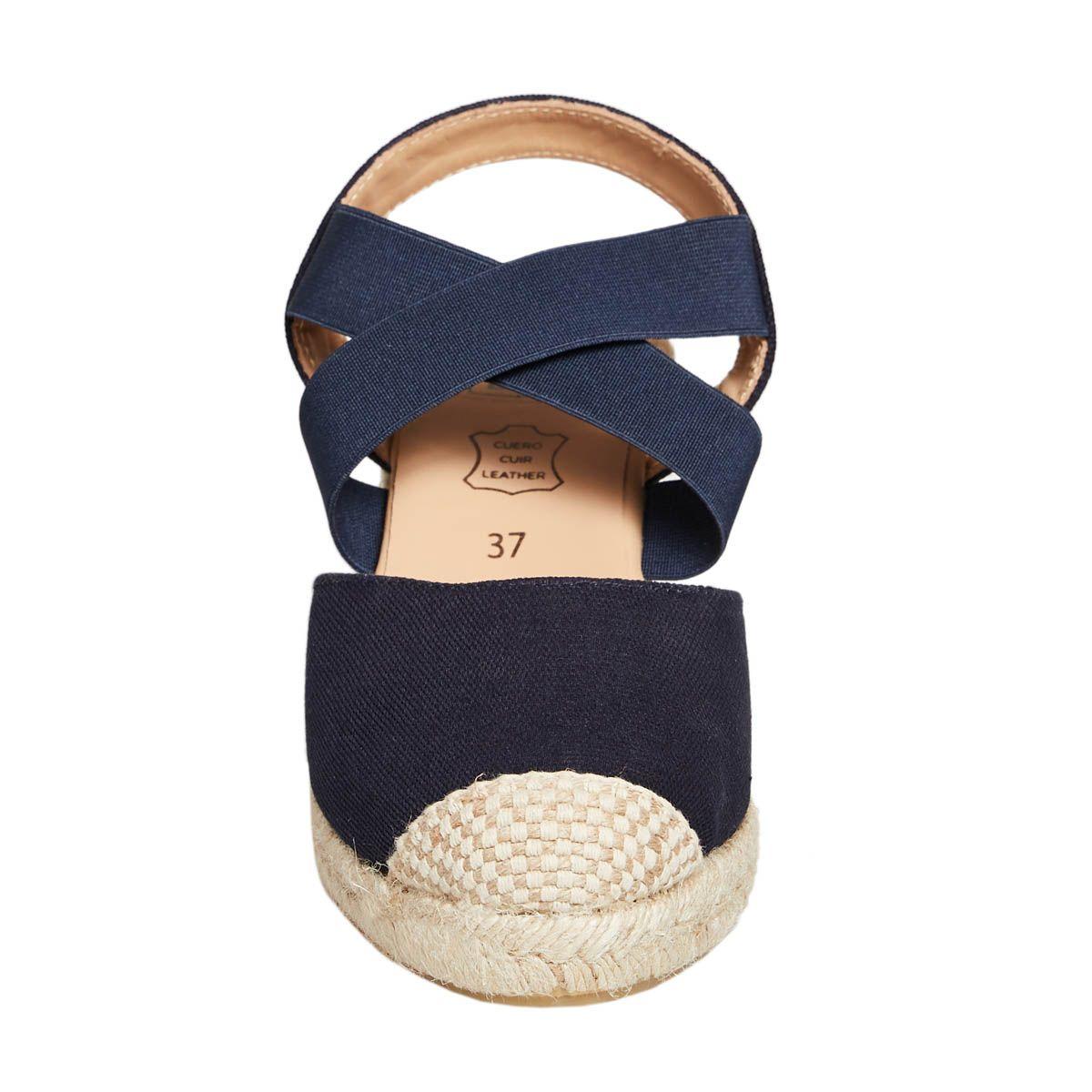 Leindia Sparto Wedge Sandal in Blue