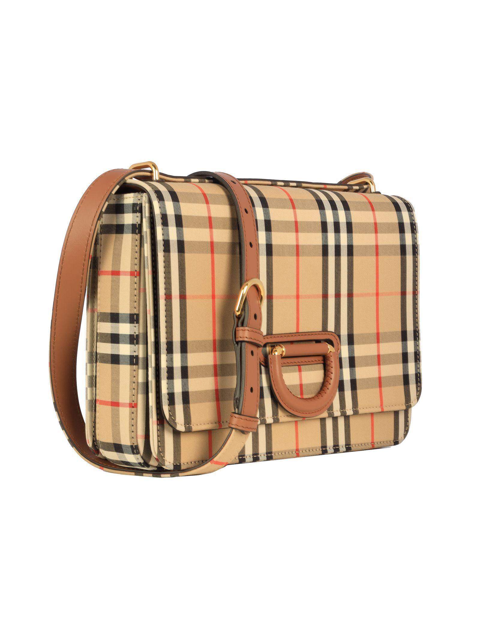 BURBERRY WOMEN'S 8021285 BEIGE LEATHER SHOULDER BAG