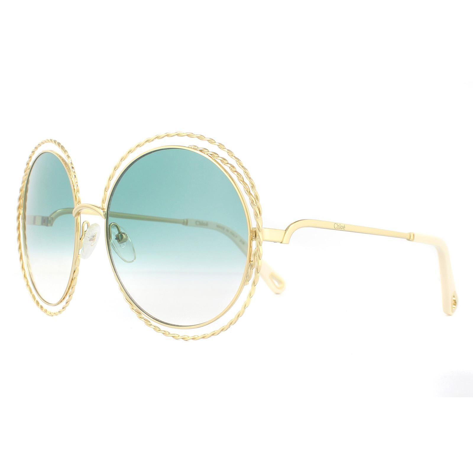 Chloe Sunglasses Carlina Twist CE114ST  871 Gold Petrol Gradient