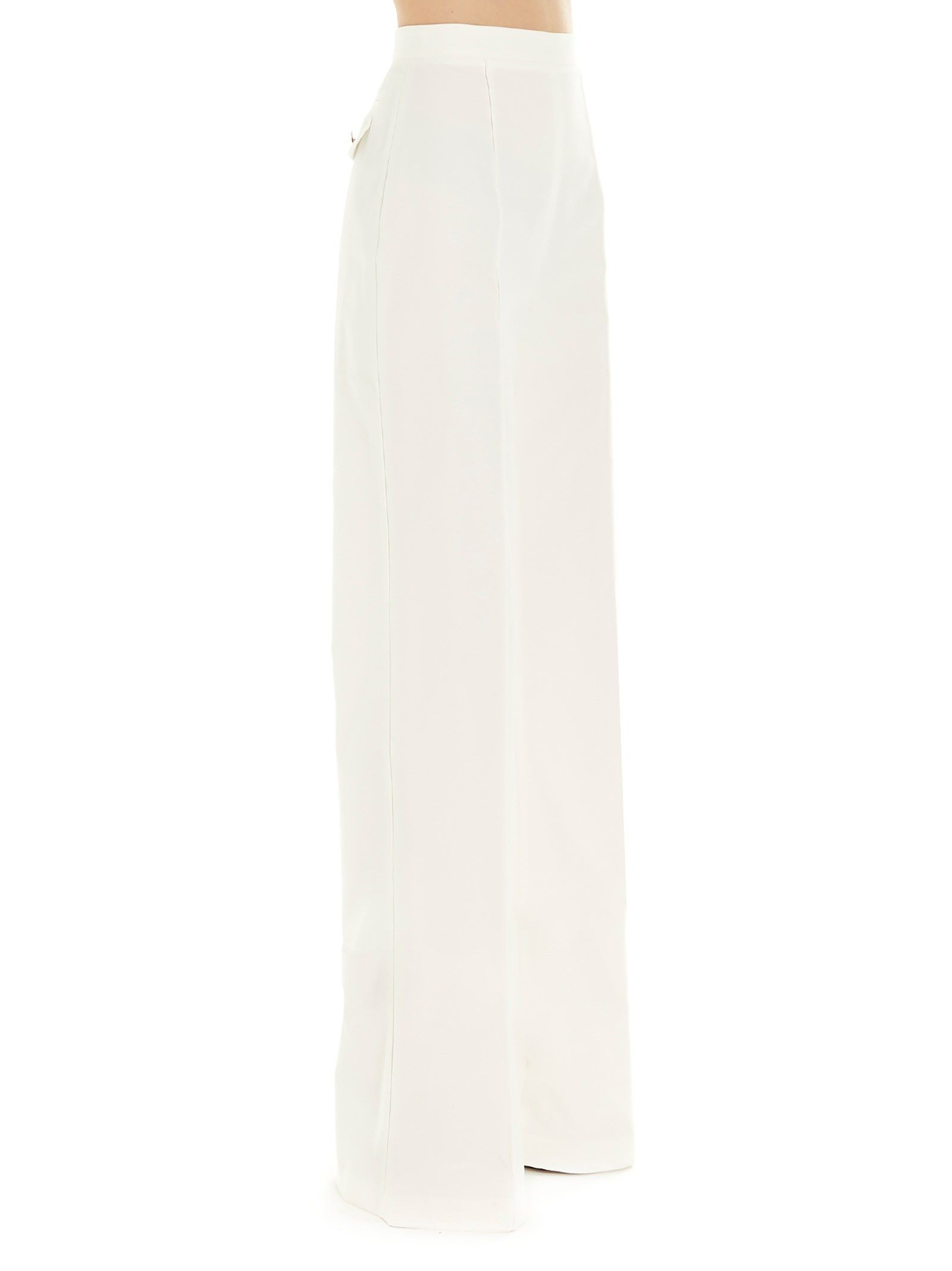 ELISABETTA FRANCHI WOMEN'S PA08001E2360 WHITE COTTON PANTS