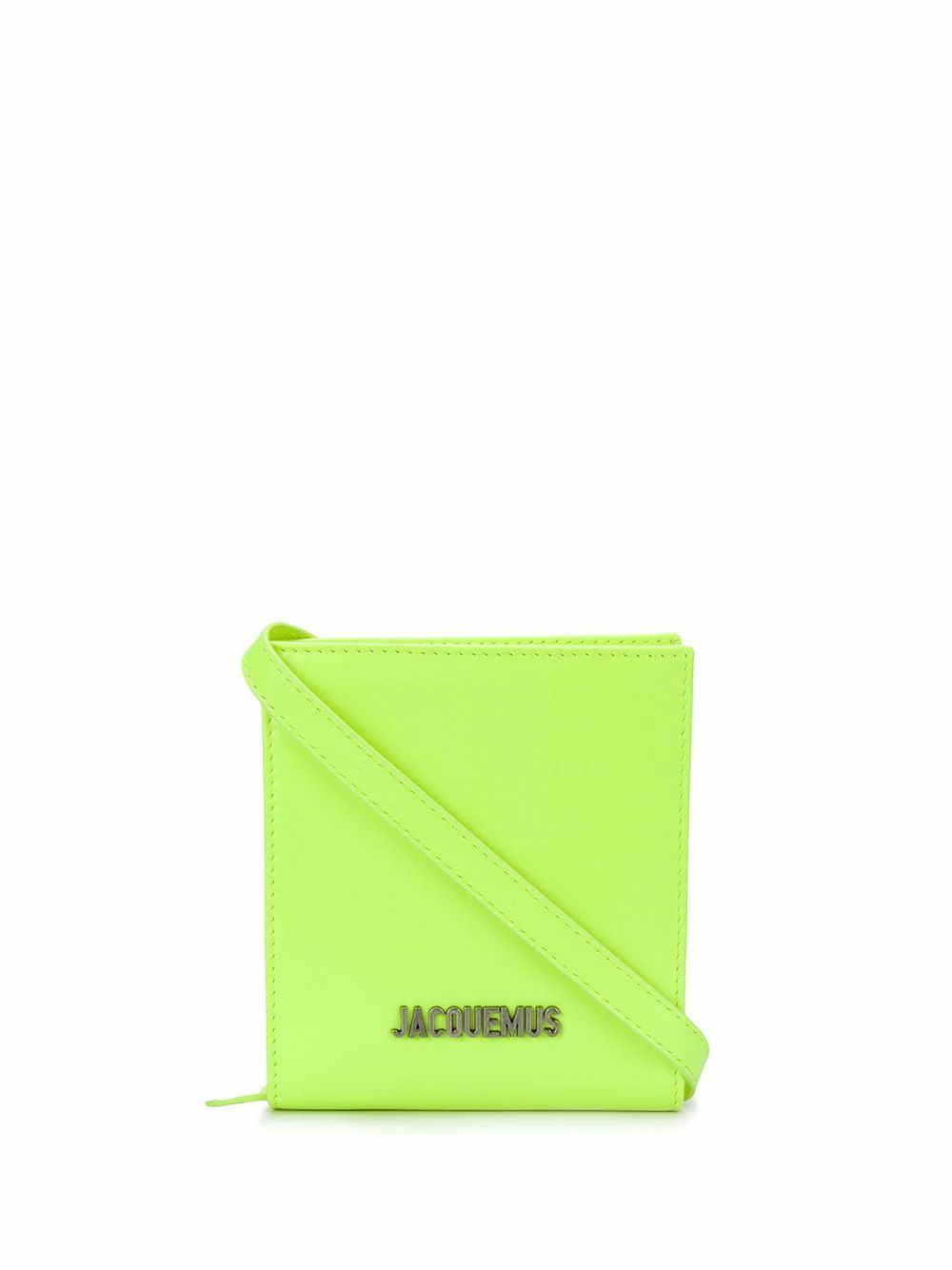 JACQUEMUS MEN'S 205AC2120562220 GREEN LEATHER WALLET