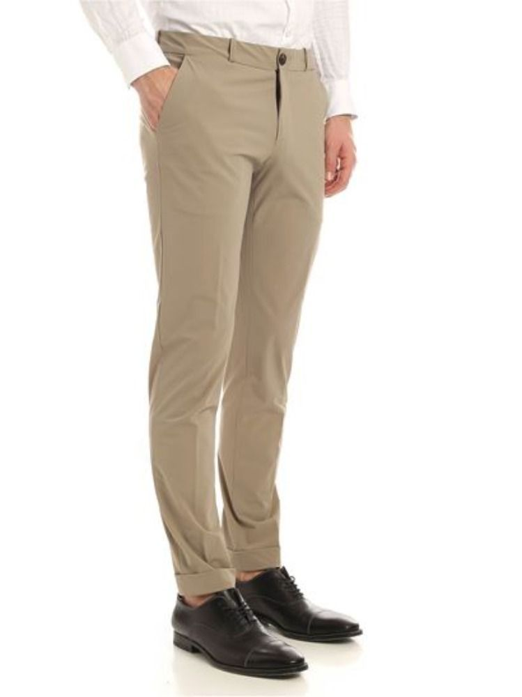 RRD MEN'S 2020081 BEIGE POLYAMIDE PANTS