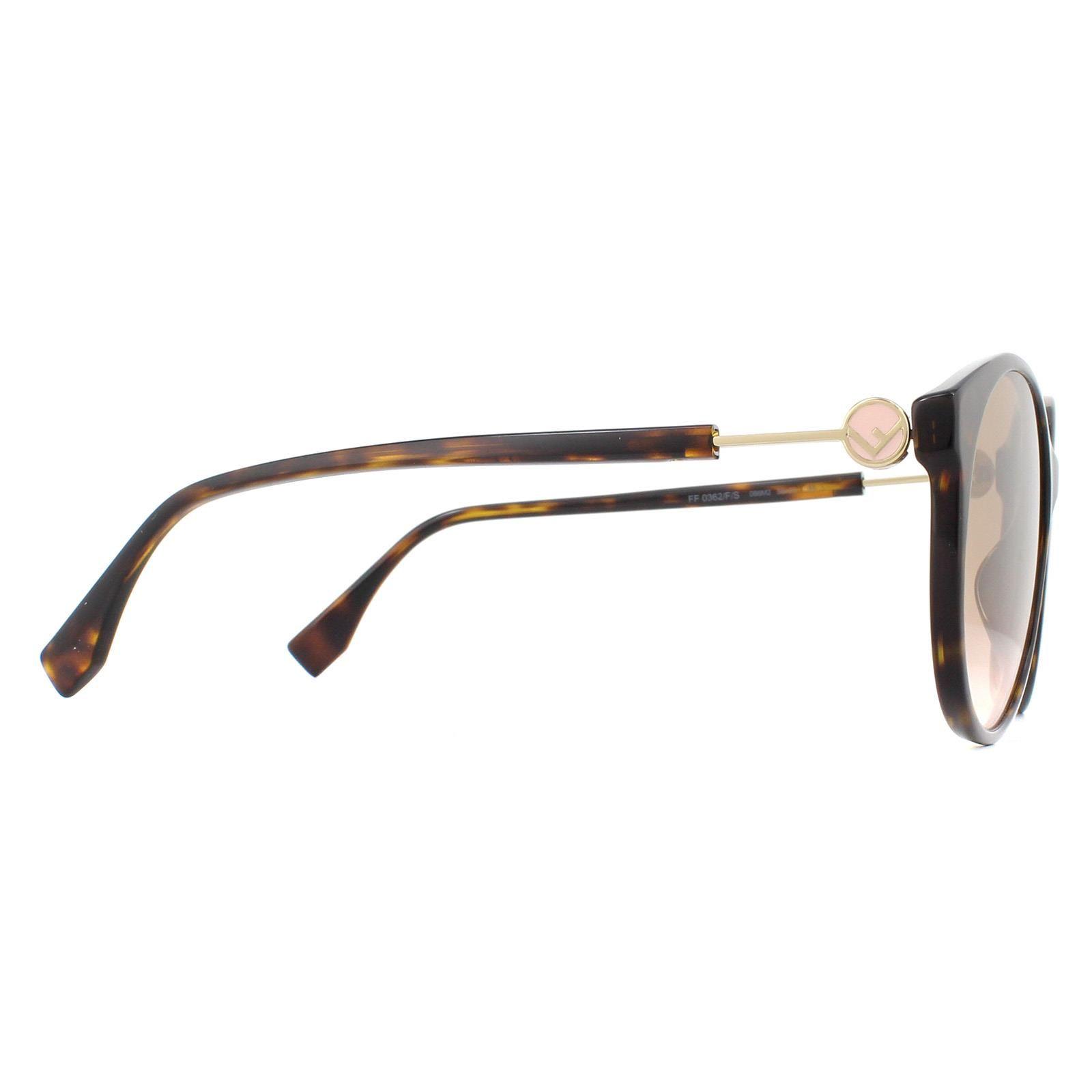 Fendi Sunglasses FF 0362/F/S 086 M2 Dark Havana Brown Gradient