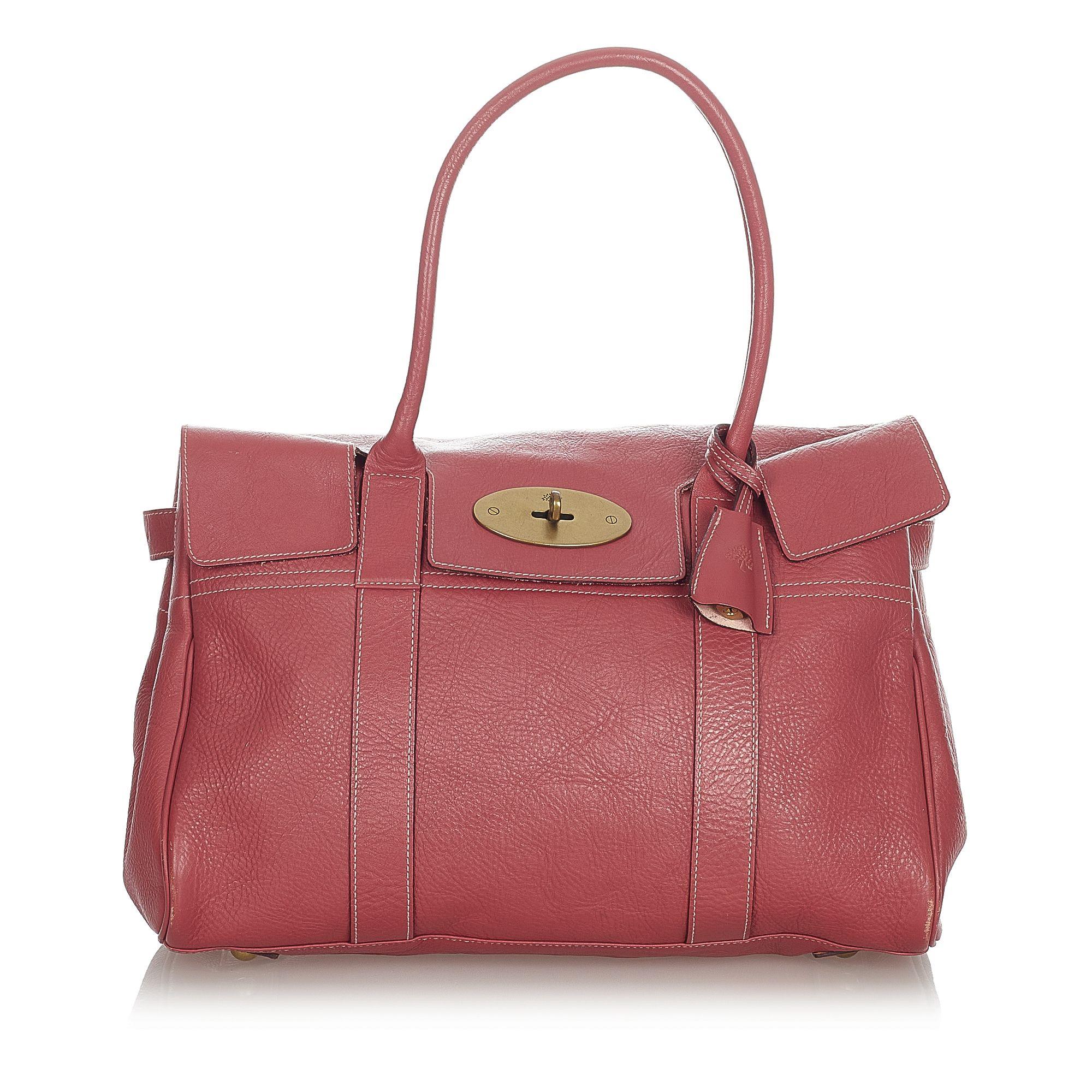 Vintage Mulberry Bayswater Leather Handbag Red