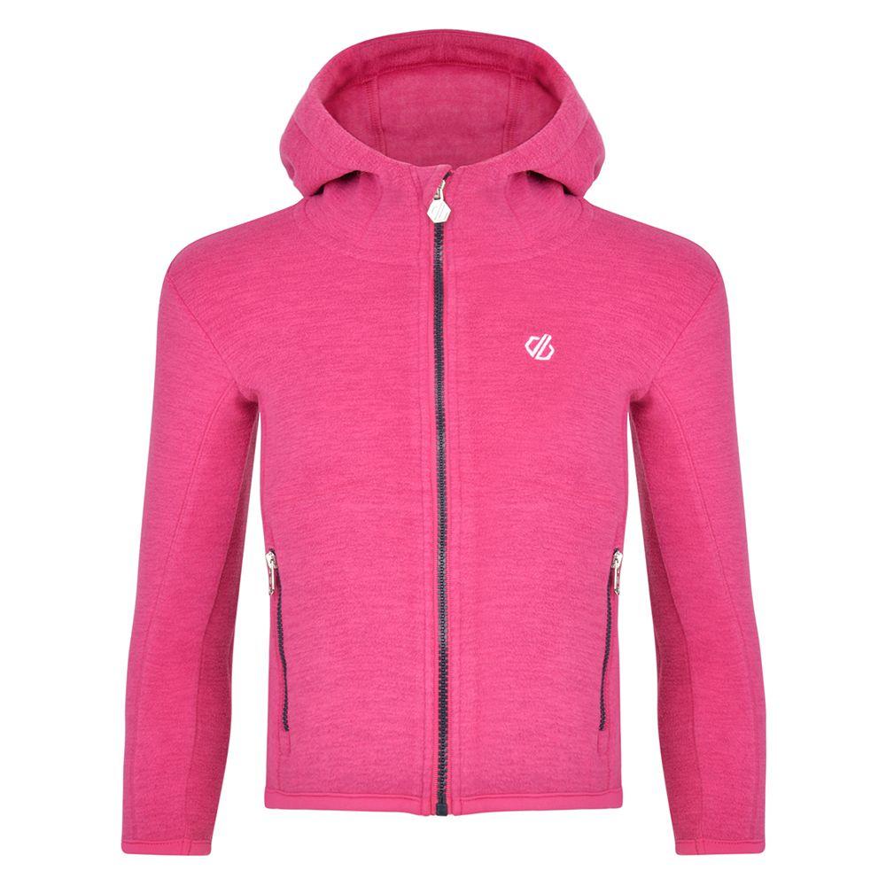 Dare 2b Girls Genesis Polyester Full Zip Hooded Fleece Jacket
