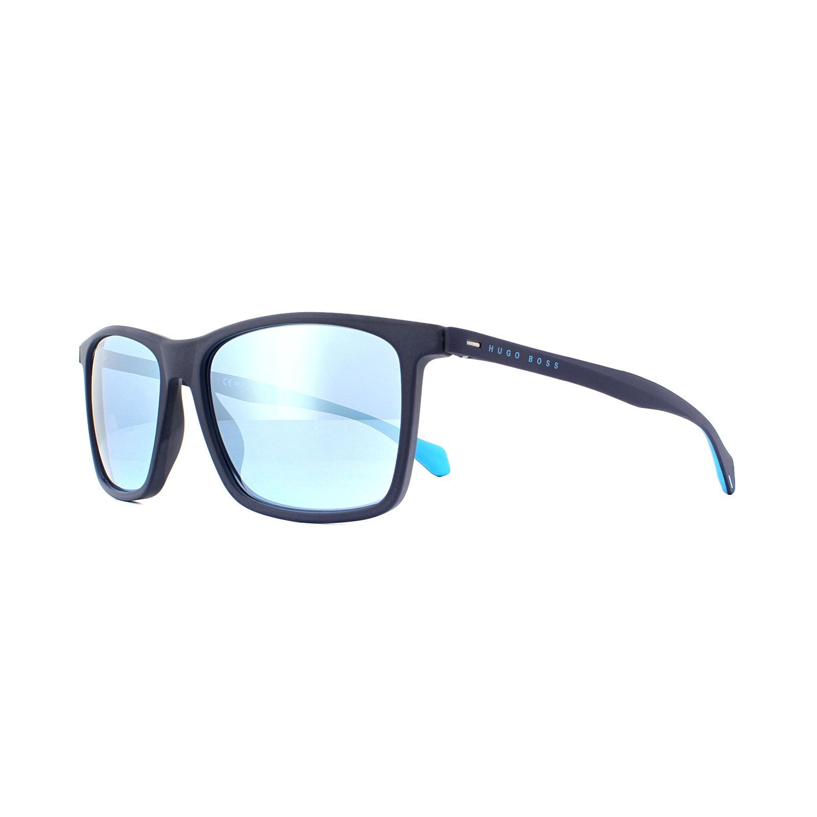 Hugo Boss Sunglasses BOSS 1078/S FLL 3J Matte Blue Blue Mirror
